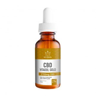 CBD-27-Öl-Vitadol-Gold-Flasche